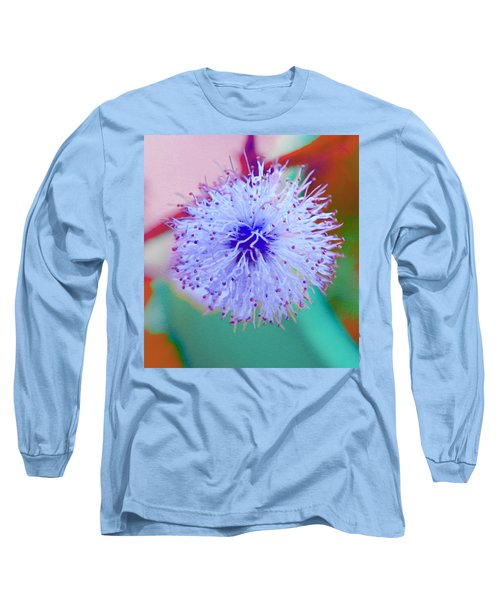 Light Blue Puff Explosion Long Sleeve T-Shirt by Samantha Thome