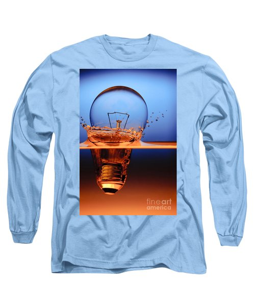 Long Sleeve T-Shirt featuring the photograph Light Bulb And Splash Water by Setsiri Silapasuwanchai
