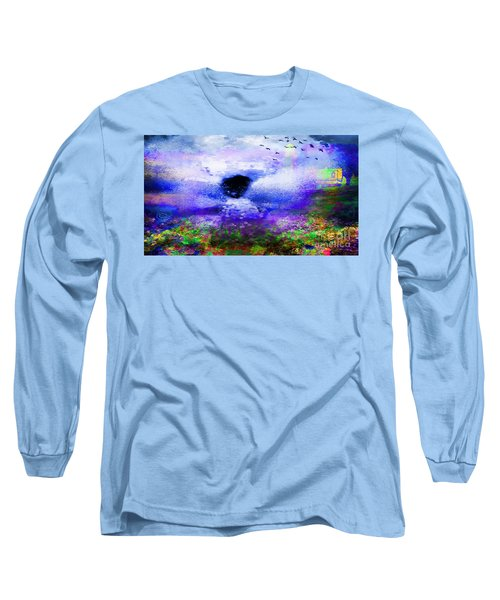 Lighthouse Angel Purple In Hotty Totty Style Long Sleeve T-Shirt by Catherine Lott