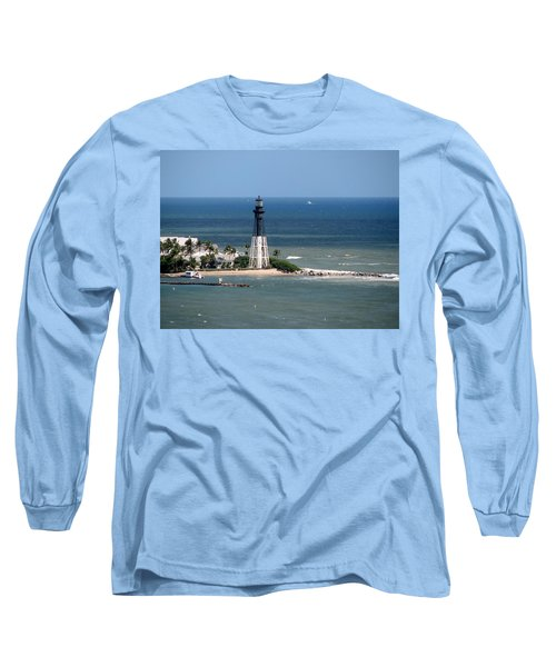 Lighthouse At Hillsboro Beach, Florida Long Sleeve T-Shirt