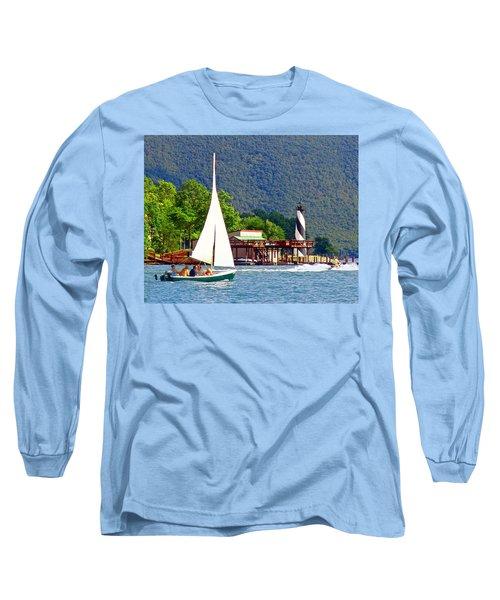 Lighthouse Sailors Smith Mountain Lake Long Sleeve T-Shirt
