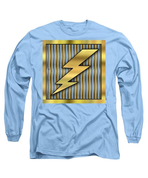 Lightning Bolt Long Sleeve T-Shirt by Chuck Staley