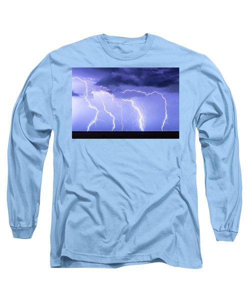 Lightning On The Plains Long Sleeve T-Shirt