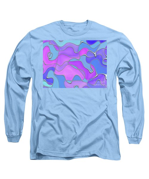 Long Sleeve T-Shirt featuring the digital art Lignes En Folie - 02a by Variance Collections