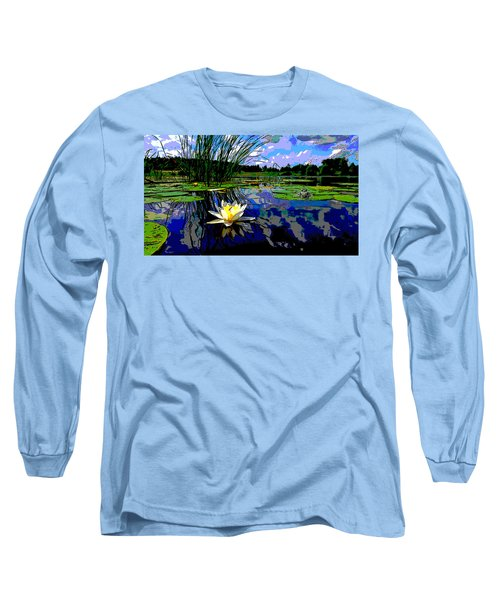 Lily Pond Long Sleeve T-Shirt by Charles Shoup