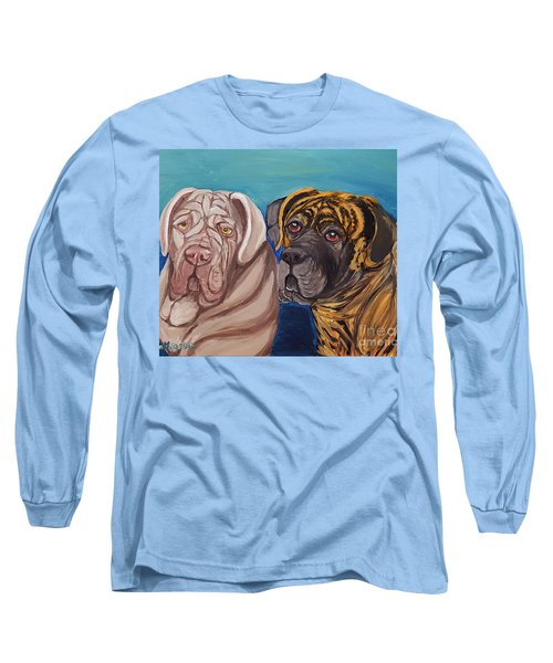 Long Sleeve T-Shirt featuring the painting Lily Rose Maggie Moo by Ania M Milo