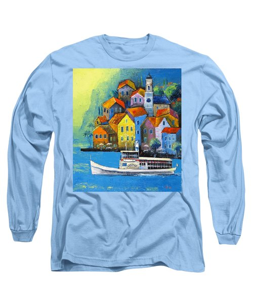 Long Sleeve T-Shirt featuring the painting Limone by Mikhail Zarovny
