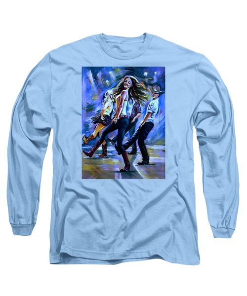 Line Dancing Fun Long Sleeve T-Shirt