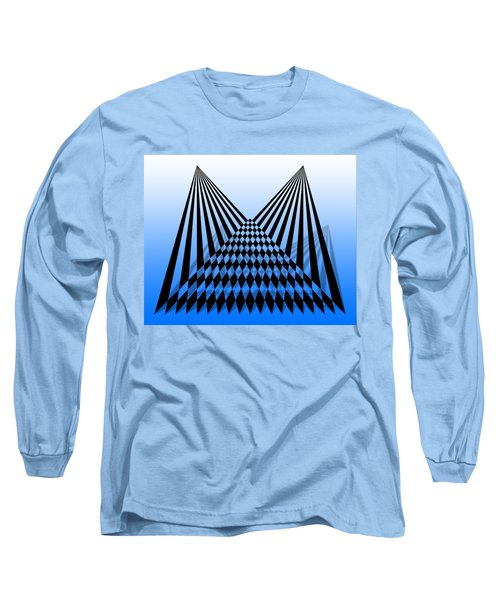 Line Overlapping T-shirt Long Sleeve T-Shirt