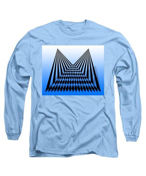 Line Overlapping T-shirt Long Sleeve T-Shirt