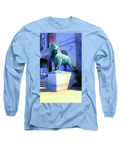 Lion At The Art Institue Of Chicago Long Sleeve T-Shirt