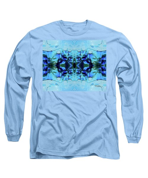 Long Sleeve T-Shirt featuring the digital art Liquid Abstract #0059-1 by Barbara Tristan
