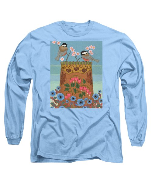 Long Sleeve T-Shirt featuring the painting Little Bird by Chholing Taha