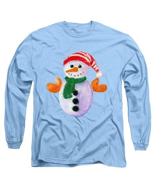 Little Snowman Long Sleeve T-Shirt
