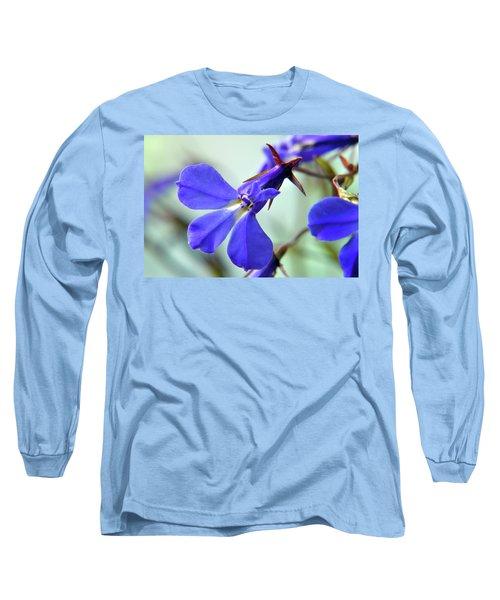Long Sleeve T-Shirt featuring the photograph Lobelia Erinus by Terence Davis