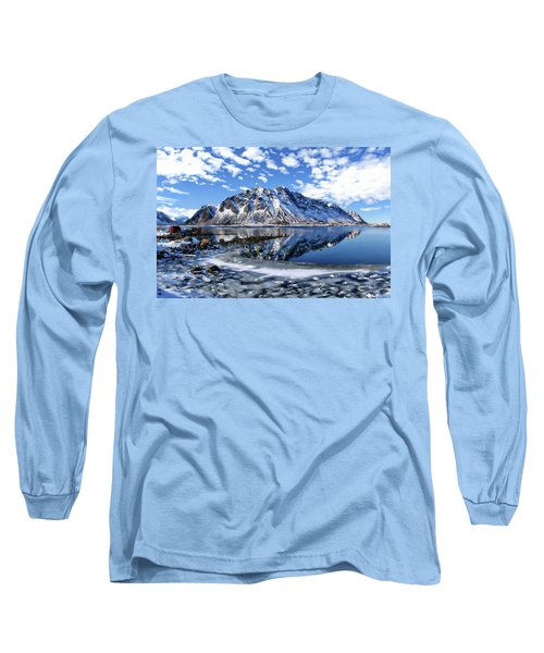 Lofoten Winter Scene Long Sleeve T-Shirt