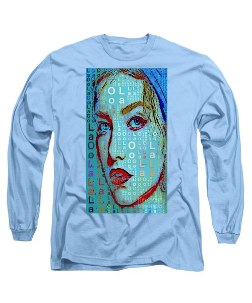 Long Sleeve T-Shirt featuring the digital art Lola Knows by Rafael Salazar