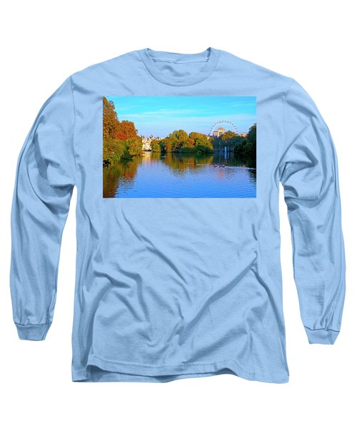 London Eye And Palace Long Sleeve T-Shirt by Haleh Mahbod