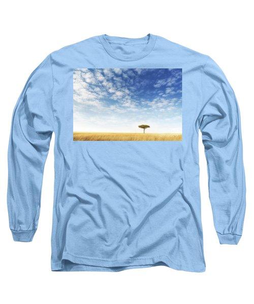 Lone Acacia Tree In The Masai Mara Long Sleeve T-Shirt