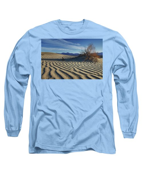 Lone Bush Death Valley Hdr Long Sleeve T-Shirt by James Hammond