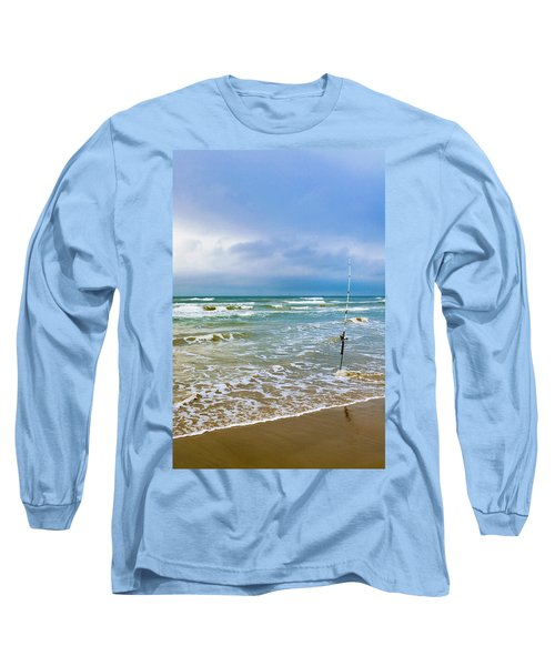 Lone Fishing Pole Long Sleeve T-Shirt