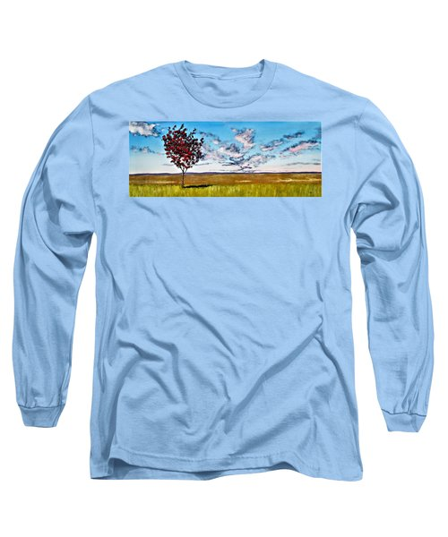 Lonely Autumn Tree Long Sleeve T-Shirt