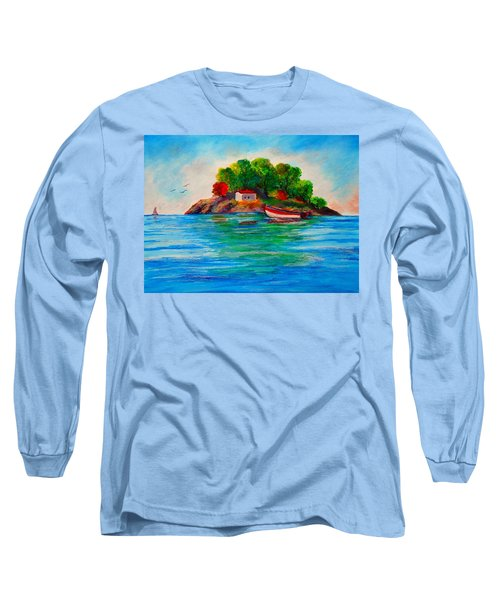 Lonely Island In Greece Long Sleeve T-Shirt