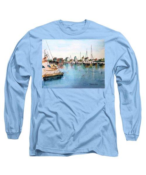 Long Beach Coastal View Long Sleeve T-Shirt