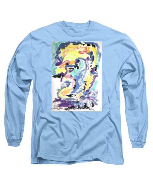 Long Sleeve T-Shirt featuring the painting Loss Of Consciousness by Esther Newman-Cohen