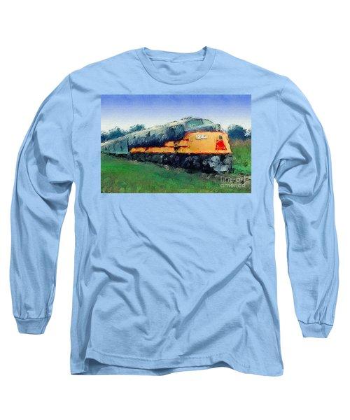 Louisville And Nashville E6a Diesel Locomotive Long Sleeve T-Shirt