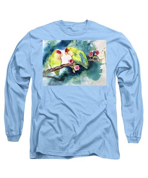 Love Birds On Branch Long Sleeve T-Shirt