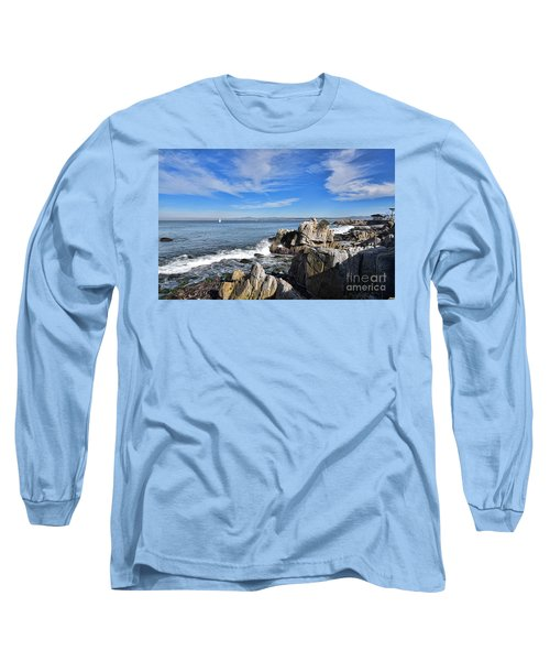Long Sleeve T-Shirt featuring the photograph Lovers Point Park by Gina Savage