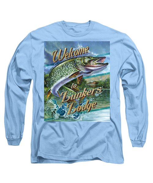Lunkers Lodge Sign Long Sleeve T-Shirt