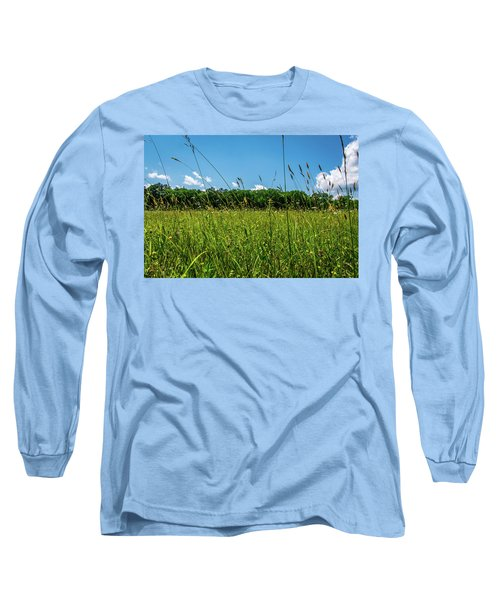Lying In The Grass Long Sleeve T-Shirt