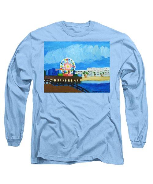 Lyndas Ferris Wheel Long Sleeve T-Shirt by Anthony Larocca