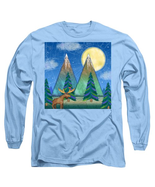 M Is For Mountains And Moon Long Sleeve T-Shirt