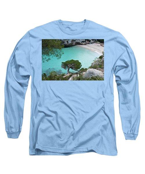 Macarelleta Turquoise Jewell By Pedro Cardona Long Sleeve T-Shirt