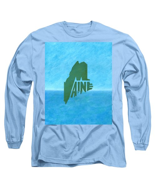 Maine Wordplay Long Sleeve T-Shirt