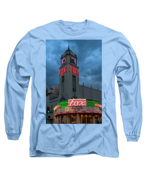 Majestic Fox Theater Neon Tribute Merle Haggard Long Sleeve T-Shirt