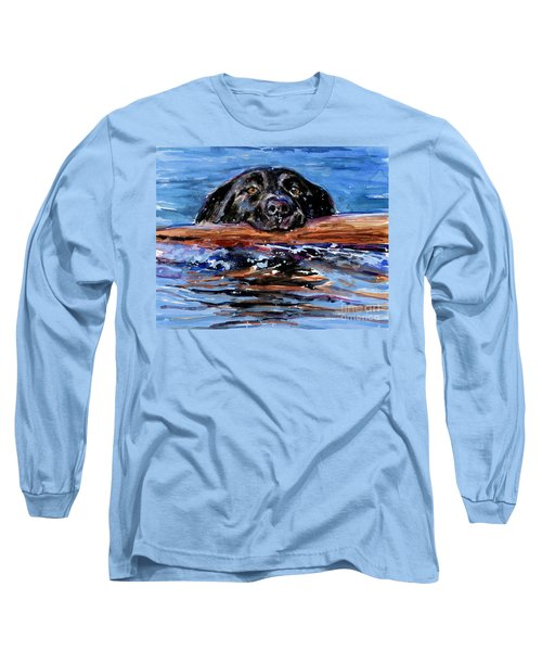 Long Sleeve T-Shirt featuring the painting Make Wake by Molly Poole