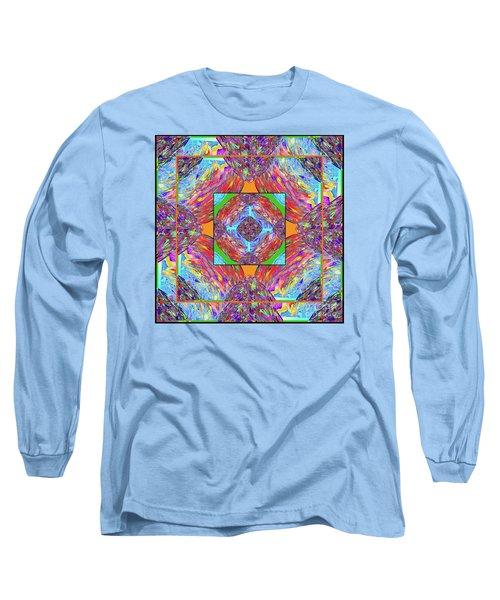 Long Sleeve T-Shirt featuring the digital art Mandala #1 by Loko Suederdiek