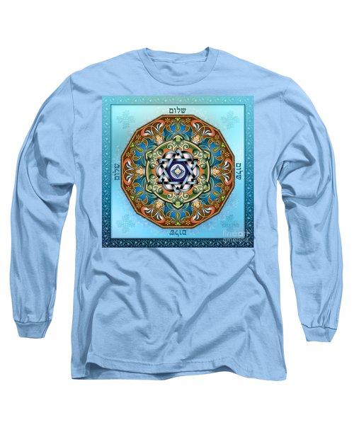 Mandala Shalom Long Sleeve T-Shirt