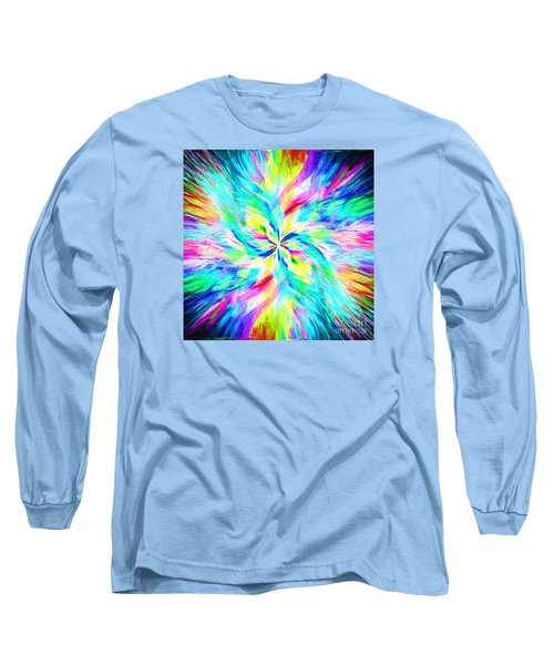 Long Sleeve T-Shirt featuring the photograph Mandala Twirl 03 by Jack Torcello
