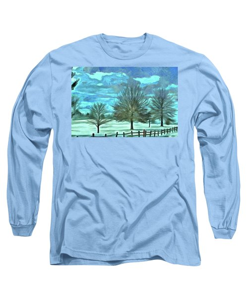 Long Sleeve T-Shirt featuring the mixed media Mandisa by Trish Tritz