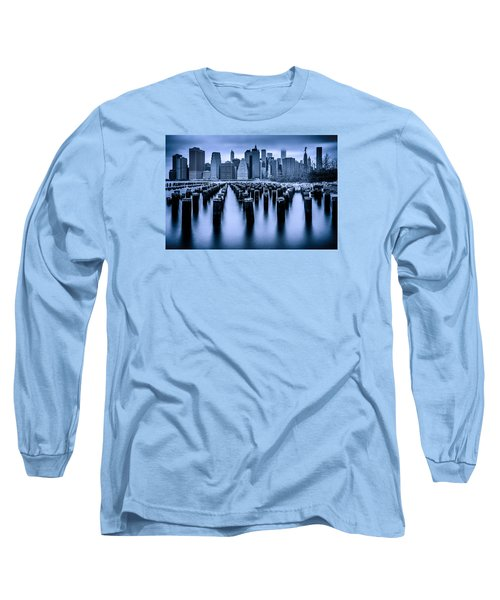 Long Sleeve T-Shirt featuring the photograph Manhattan Blues by Chris Lord