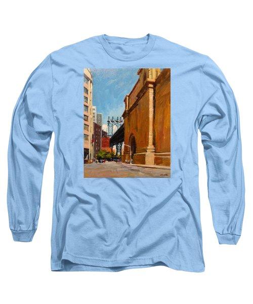 Manhattan Bridge From  Front Street, Brooklyn Long Sleeve T-Shirt