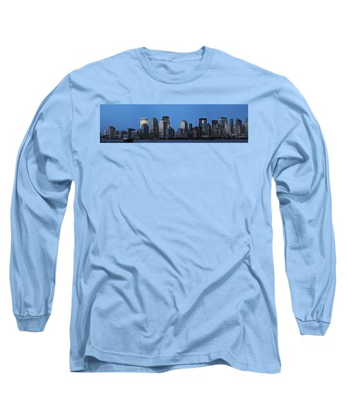 Long Sleeve T-Shirt featuring the photograph Manhattan Skyline by John Haldane
