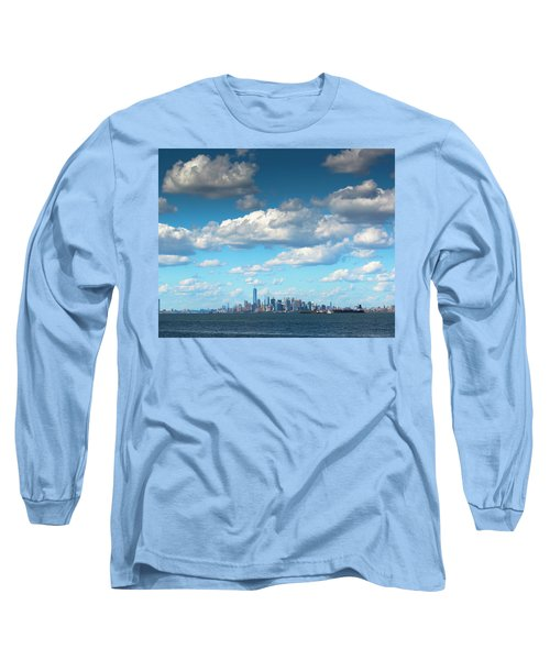 Manhattan With Clouds Long Sleeve T-Shirt