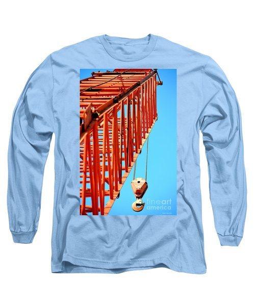 Manitowoc Red Boom Block And Hook Long Sleeve T-Shirt by Maria Urso