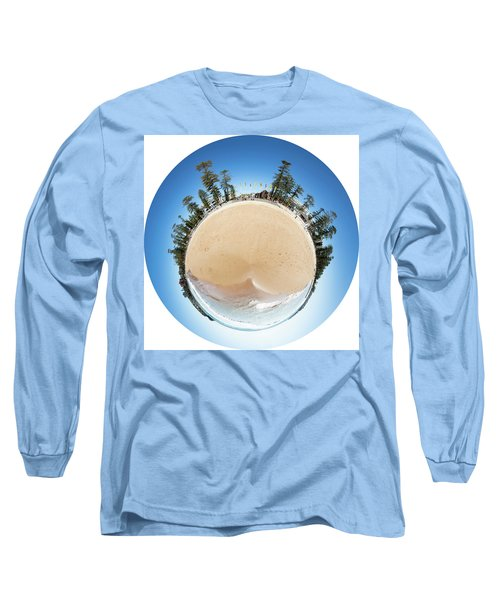 Long Sleeve T-Shirt featuring the photograph Manly Beach Tiny Planet by Chris Cousins